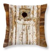 Classic Rustic Rural Worn Old Barn Door Throw Pillow