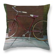 Classic Schwinn Bike  Throw Pillow