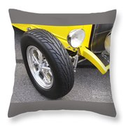 Classic Tire Tread Throw Pillow