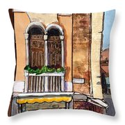 Classic Venice Throw Pillow by TM Gand