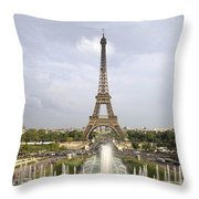 Classic View Of Paris Throw Pillow