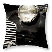 Classic Vintage Car Black And White Throw Pillow