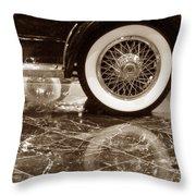 Classic Wheels Sepia Throw Pillow