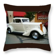 Classic White Throw Pillow