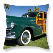 Classic Woodie Throw Pillow