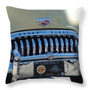 Classic Yellow 49' Buick Eight Throw Pillow