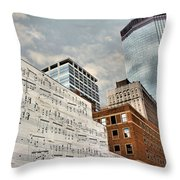 Classical Graffiti Throw Pillow by Kristin Elmquist