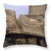Classical Ruins Throw Pillow