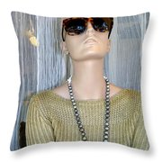 Classy In Shades Throw Pillow
