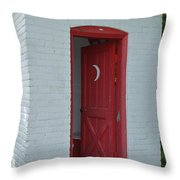 Classy Outhouse Throw Pillow