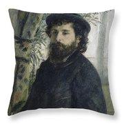 Claude Monet Self-portrait Throw Pillow