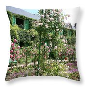Claude Monets House - Giverney Throw Pillow