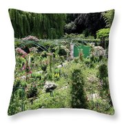 Claude Mounets Green Garden Gate Throw Pillow