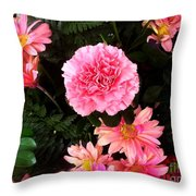 Carnations The Spanish Flower Throw Pillow