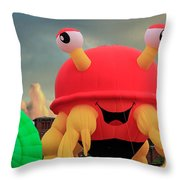 Claw D The Crazy Crab  Throw Pillow