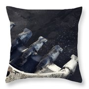 Claw - Industrial Photography By Sharon Cummings Throw Pillow