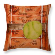 Clay Courters Throw Pillow by Elaine Duras