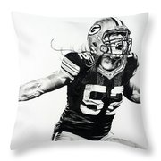 Clay Matthews Throw Pillow