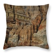Clay Mountain Formations In Front Throw Pillow