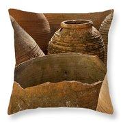 Clay Pots   #7811 Throw Pillow