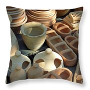 Clay Pots And Other Containers Throw Pillow