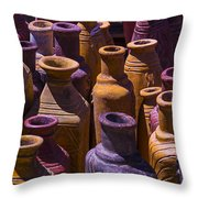 Clay Vases Throw Pillow by Garry Gay