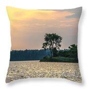 Clayton Lake Throw Pillow