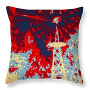 Clean Energy Poster Throw Pillow
