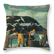 Cleaning Fish Throw Pillow