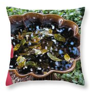 Cleanup In The Garden Throw Pillow