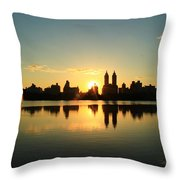 Clear And Smooth Throw Pillow