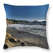 Clear At Trinidad Throw Pillow by Adam Jewell