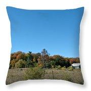 Clear Autumn Country Sky Throw Pillow