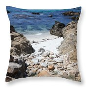 Clear California Cove Throw Pillow