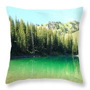 Clear Green Water Throw Pillow