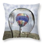 Clear Idea Throw Pillow