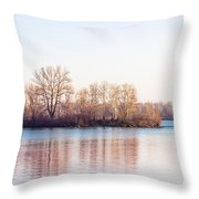 Clear Morning On The River Throw Pillow