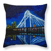 Clear Night Over The Trinity Throw Pillow
