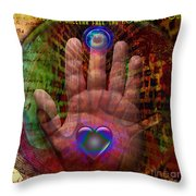 Solar Unity Throw Pillow