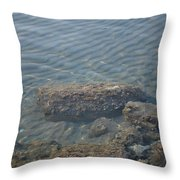 Clear Sea Throw Pillow