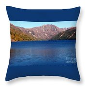 Clear Water Lake Throw Pillow