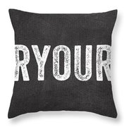Clear Your Plate Throw Pillow