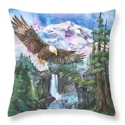 Cleared For Landing Mount Baker Throw Pillow