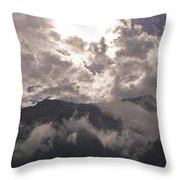 Clearing Clark's Fork Storm Throw Pillow