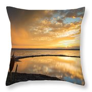 Clearing Rainstorm Throw Pillow