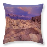 Clearing Sunrise Storm Zabriske Point Death Valley National Park California Throw Pillow