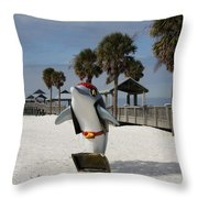 Clearwater Beach Pirate Throw Pillow