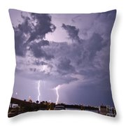 Clearwater Harbor Throw Pillow