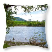 Clearwater River In Nez Perce National Historical Park-id  Throw Pillow