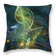 Clef Note Throw Pillow